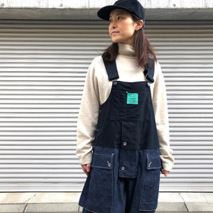 -〔WOMEN'S〕-   Nigel Cabourn LYBRO ナイジェルケーボン ライブロ   NAVAL DUNGAREE SPLIT (DENIM + MOLESKIN)