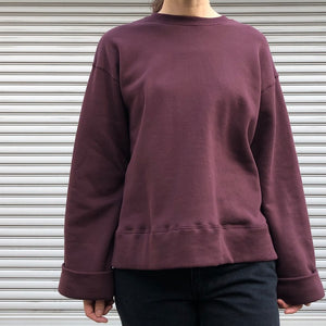 -〔WOMEN'S〕-  MY_ マイ  ROLL CUFFS SWEAT