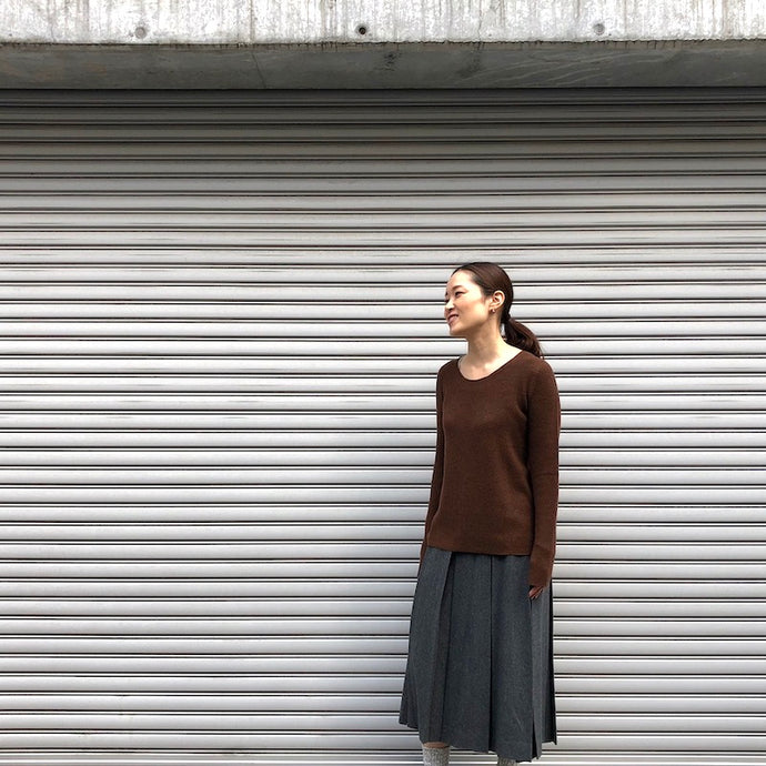 -〔WOMEN'S〕-  hannes roether ハネスルーザー  PASTIS KNIT