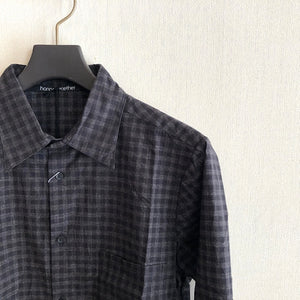 -〔MEN'S〕-  hannes roether ハネスルーザー  HR-KONZES CHECK SHIRTS