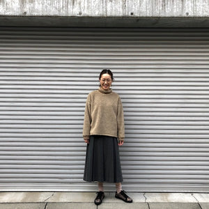 -〔WOMEN'S〕-  MY_ マイ  ROLL NECK BOA TOP