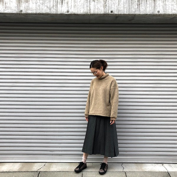 -〔WOMEN'S〕-  MY_ マイ  BOX PLEATS SKIRT