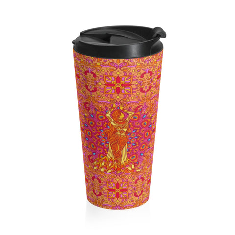 Dancing Fire Travel Mug