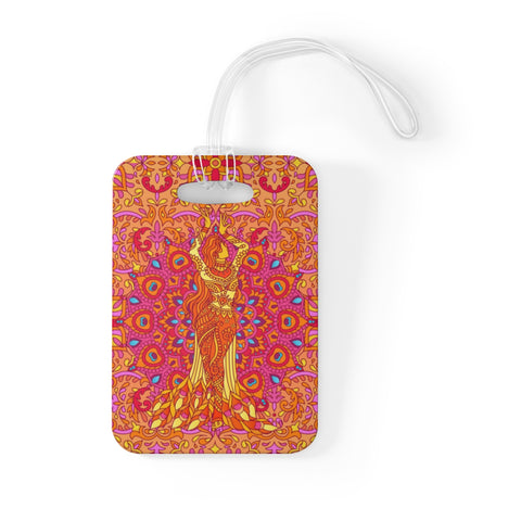 Dancing Fire Bag Tag