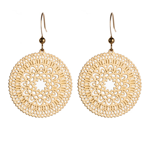 Marrakesh Earrings - 12k Gold Plated