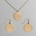 Marrakesh Set - 12k Gold Plated Earrings & Necklace