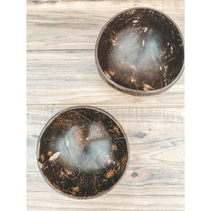 Natural Coconut Bowls (Set of two)