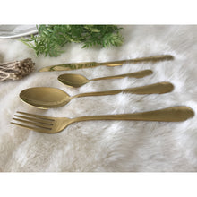 Load image into Gallery viewer, Gold Stainless Steel Flatware