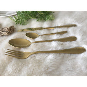 Gold Stainless Steel Flatware