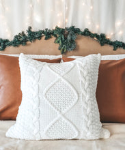 Load image into Gallery viewer, Ivory Cable Knit Pillow Cover