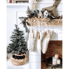 Load image into Gallery viewer, Ivory Knitted Christmas Stocking