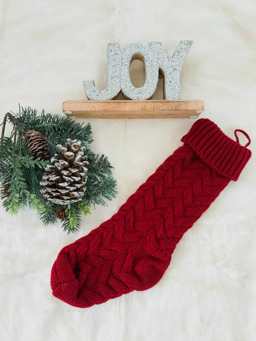 Red Knitted Christmas Stocking