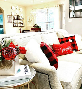 Set of Red Buffalo Check Plaid Pillow Covers
