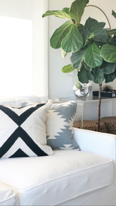 PRE-ORDER Black X Kilim Pillow Cover