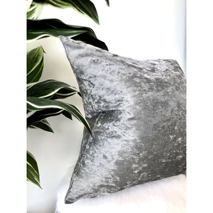 Silver Velvet Pillow Cover