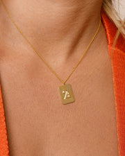 Blackletter Years Ring & DogTag Necklace Set - Sparklane