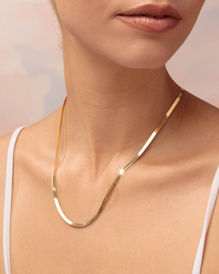 Herringbone Chain Necklace - Sparklane