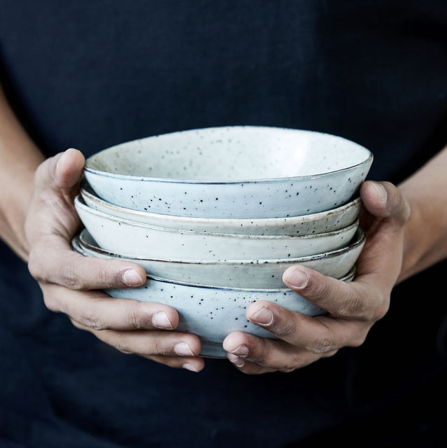 Rustic grey bowls by House Doctor