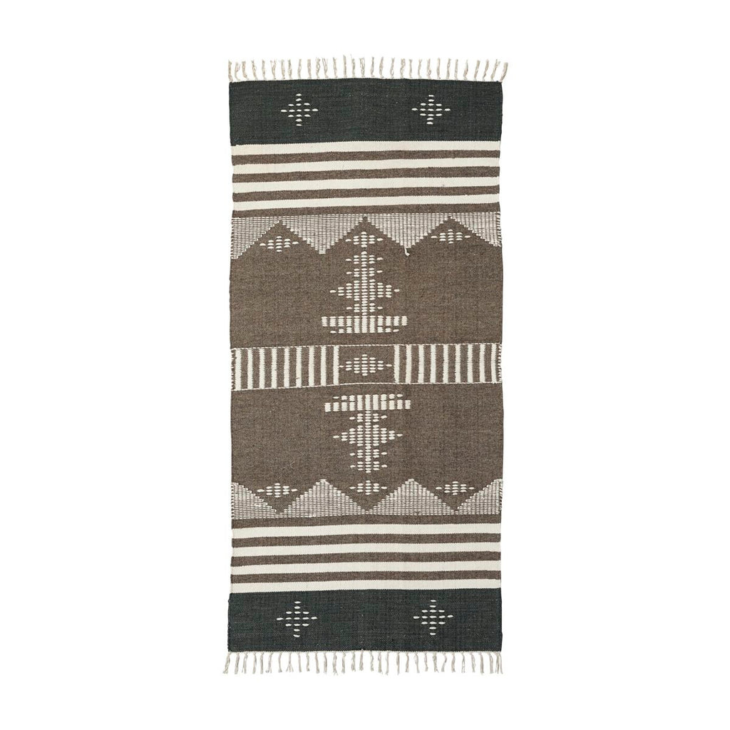 House Doctor Coto brown geometric rug