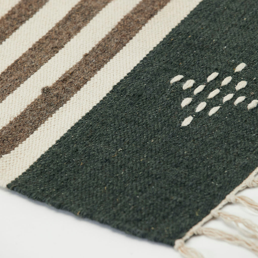 detail of the Coto cotton/wool rug