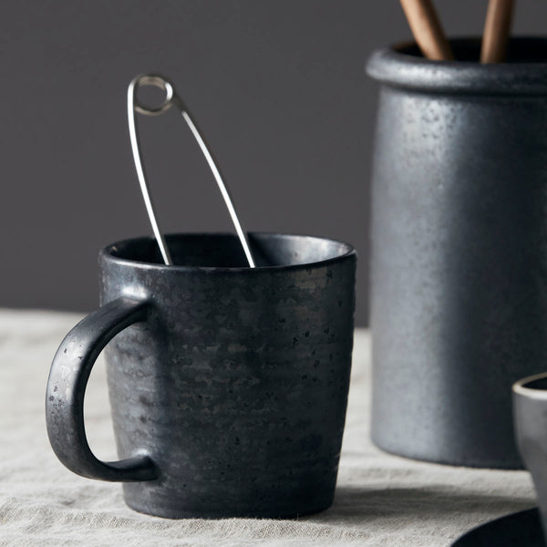 black Pion mug by House Doctor