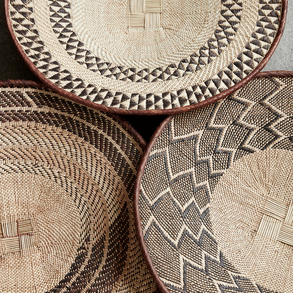 natural woven wall basket