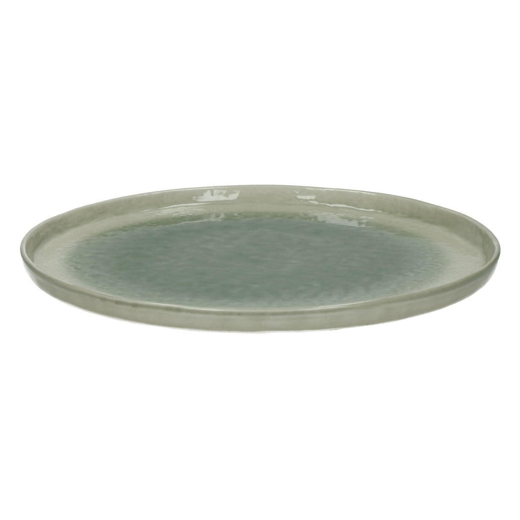 crackle glaze grey dinner plate