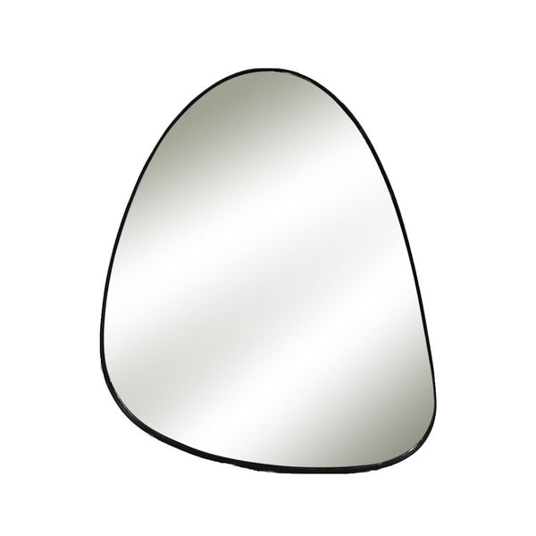 Pebble shaped black mirror