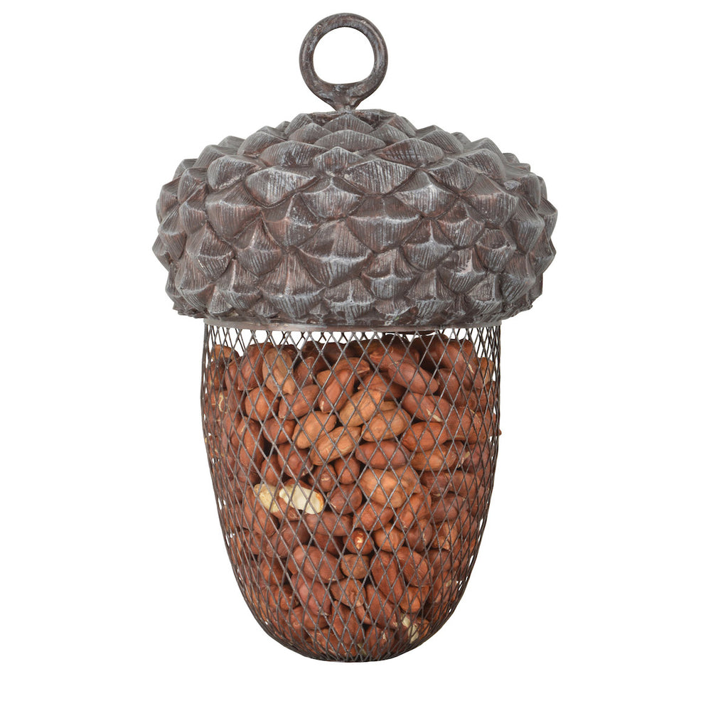 Acorn peanut bird feeder by Fallen Fruits
