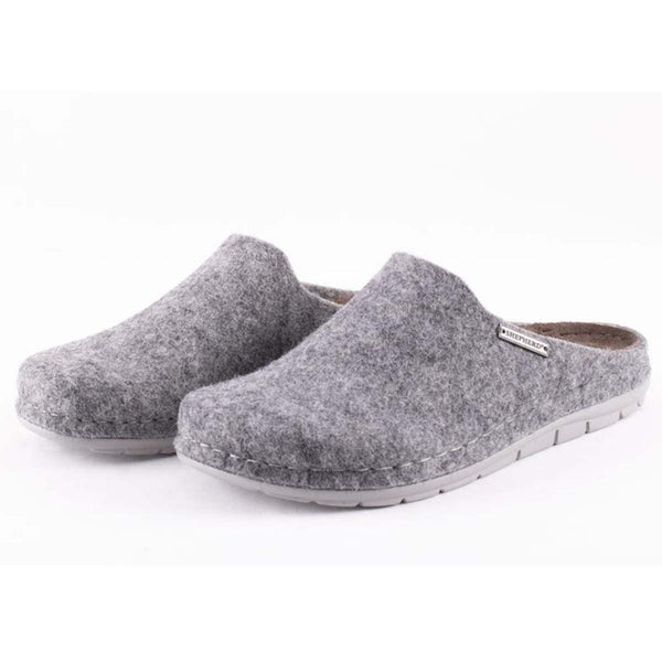 Annsofie felt slippers in grey by Shepherd