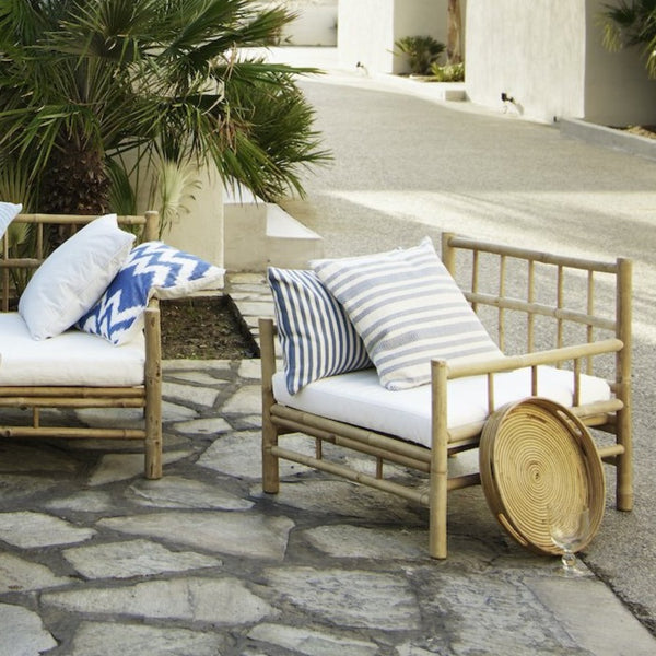 tine k bamboo outdoor lounge sofa