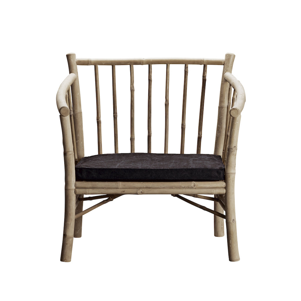 Tine K bamboo chair with grey cushion