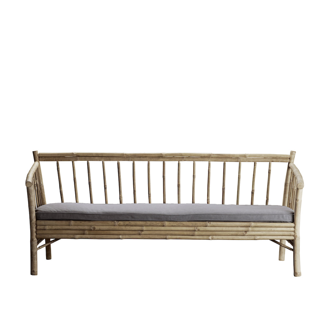Tine K bamboo sofa with grey cushion