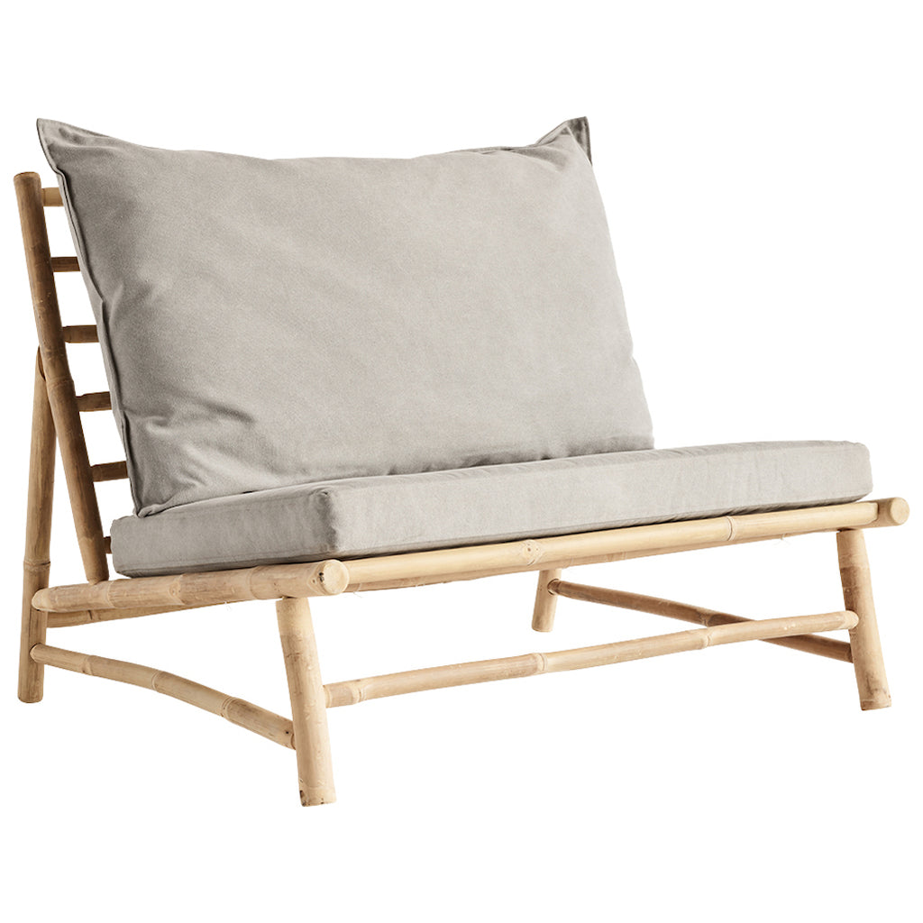 Tine K bamboo chair with grey cushions