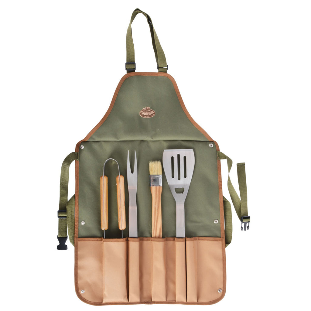 Personalised BBQ tool set and apron