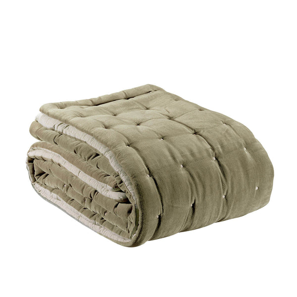beige velvet throw