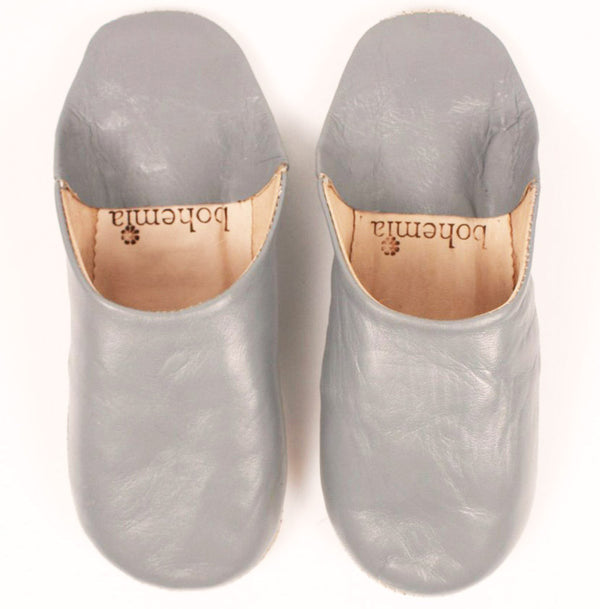 grey babouche Moroccan slippers
