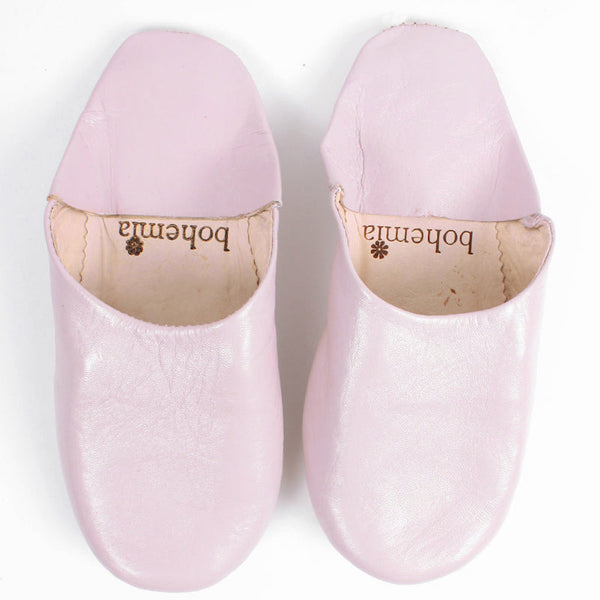 pink Moroccan leather slippers