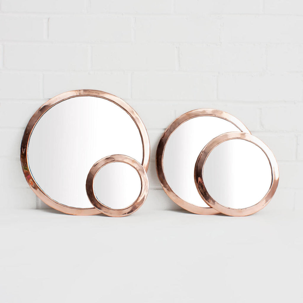 rose gold Moroccan hand made mirror