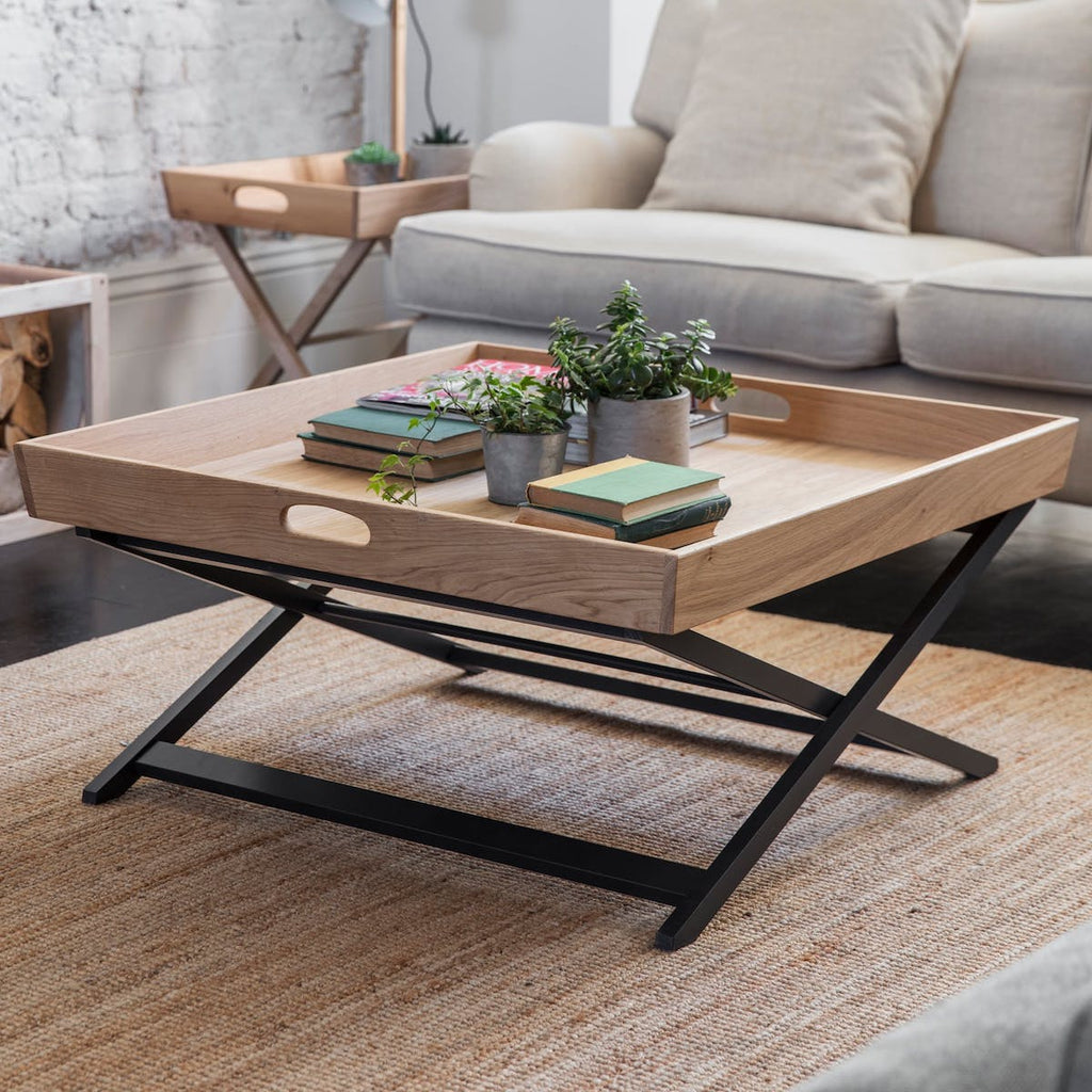 Oak butlers tray coffee table by Garden Trading