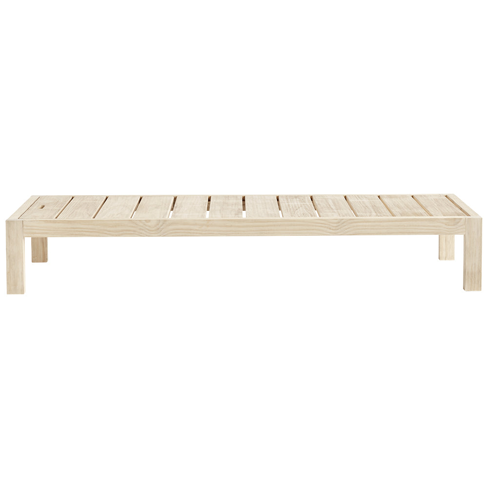 natural pine frame for sun lounger