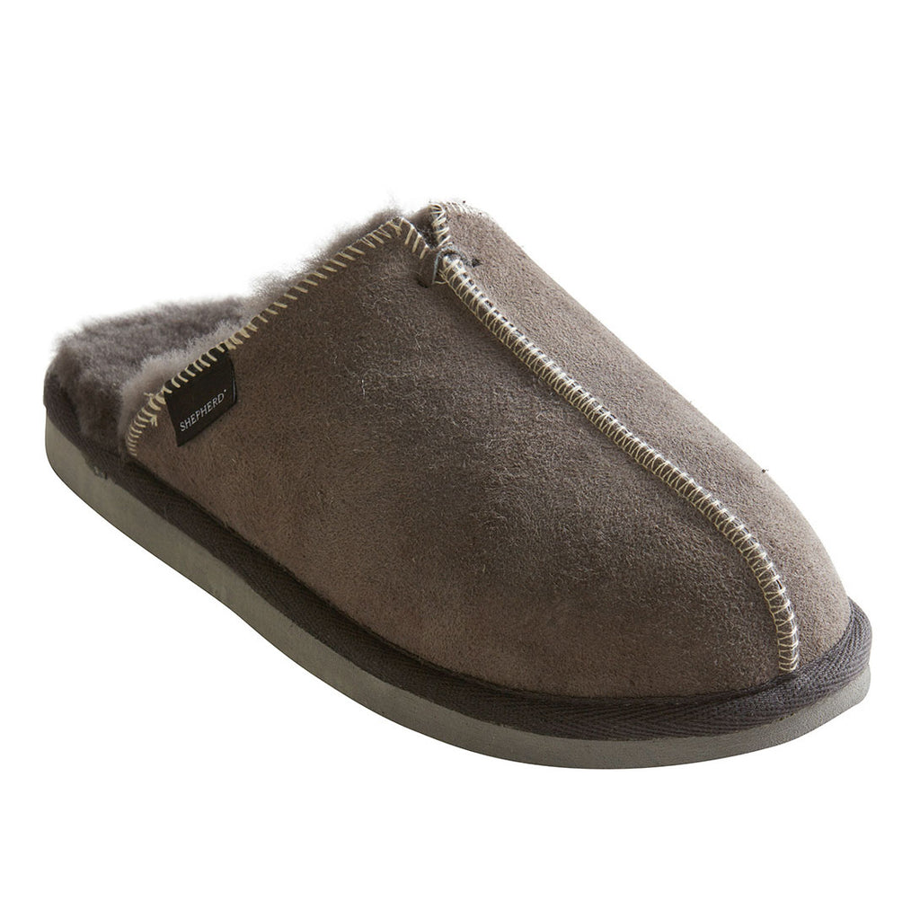 Shepherd sheepskin slippers in grey