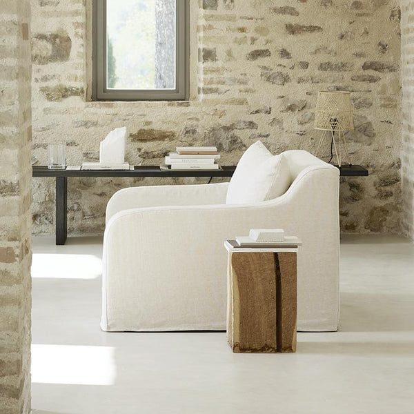 Tine K armchair soft in white