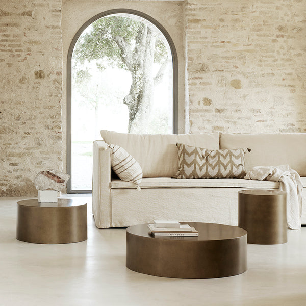 Tine k Drum coffee table in bronze