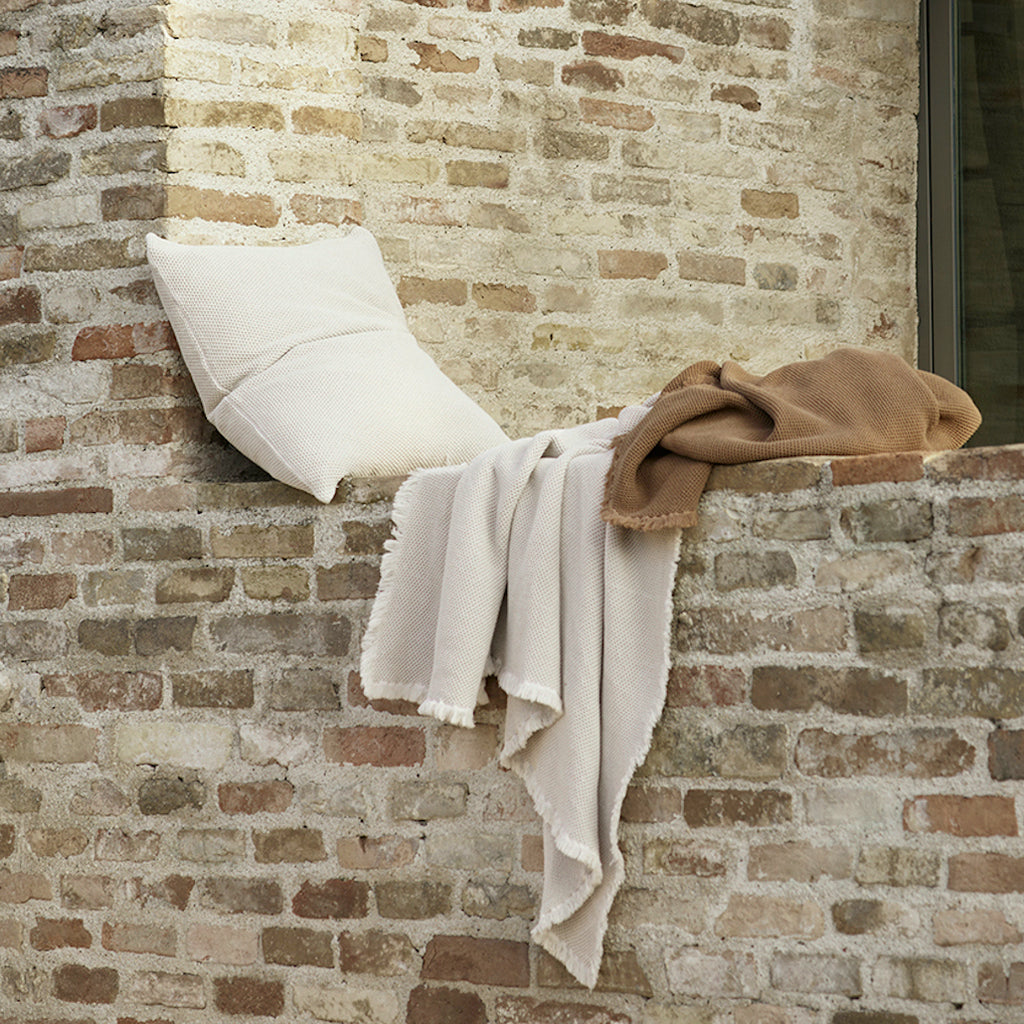 waffle throw by Tine K home in taupe