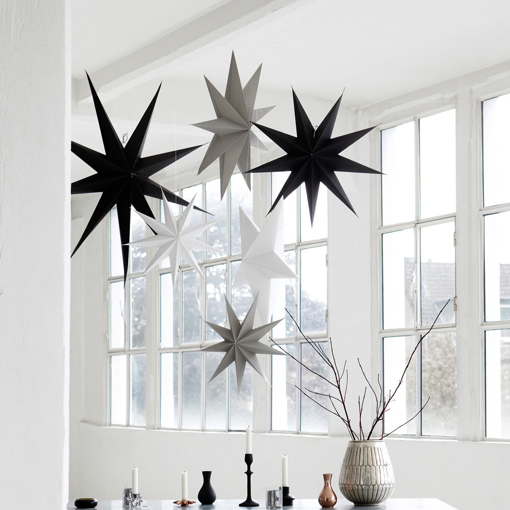 Christmas paper star decorations