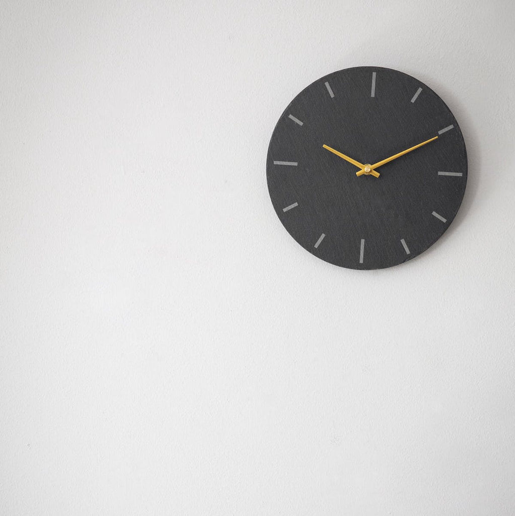 Coleridge slate wall clock by Garden Trading