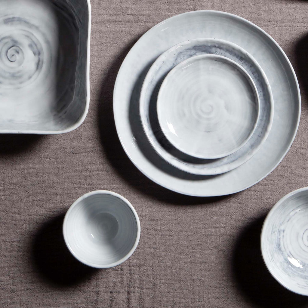 hand made white crockery by Tine K