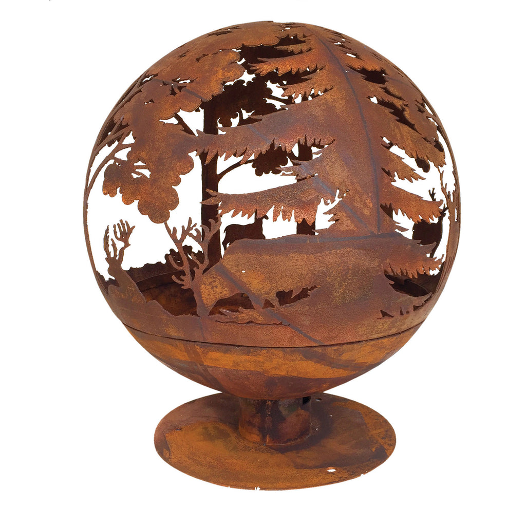 Woodland Laser Cut Fire Globe