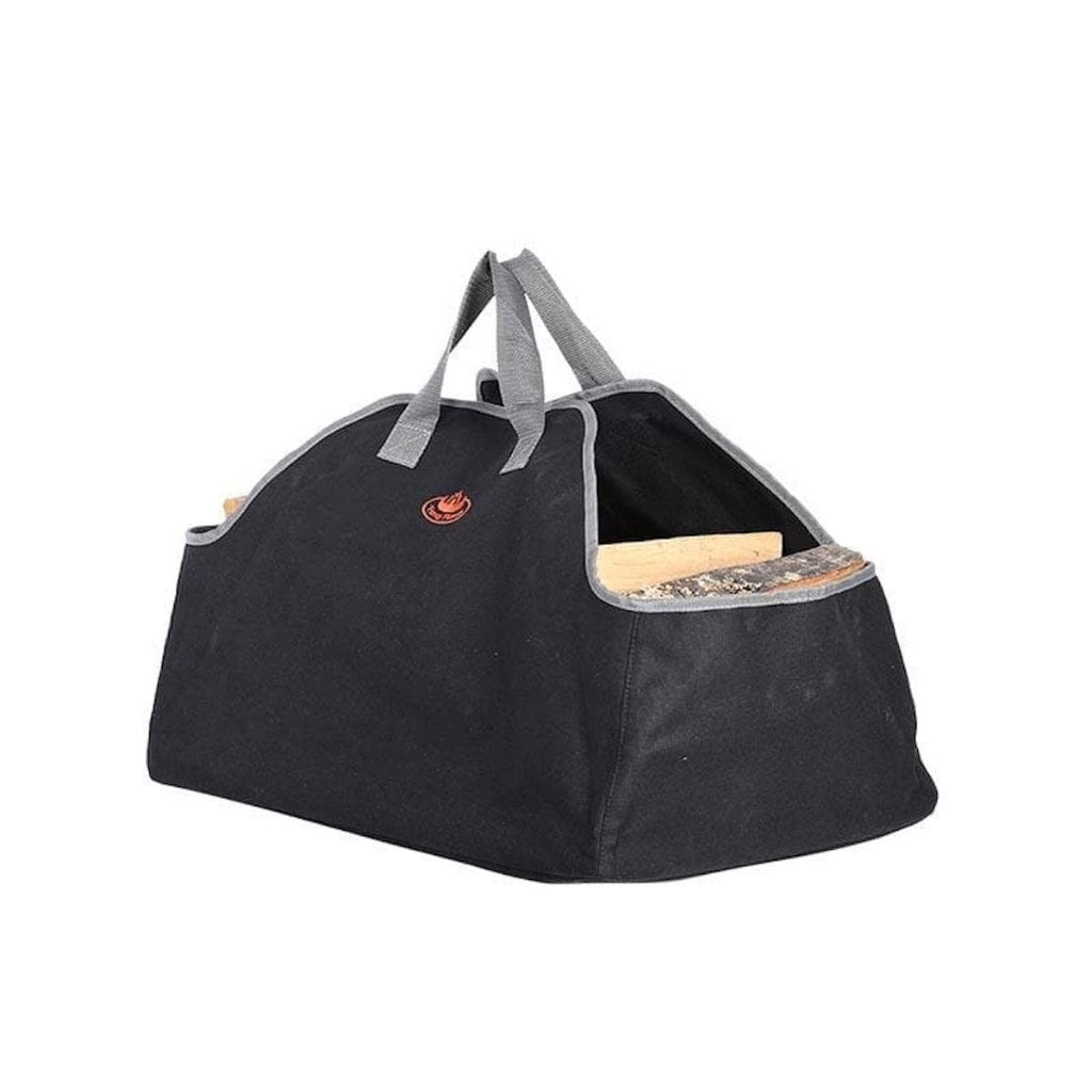 black canvas log carrier